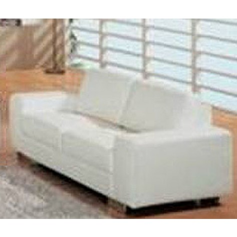 White Modern Leather Loveseat - SF68 (Qty: 4+)