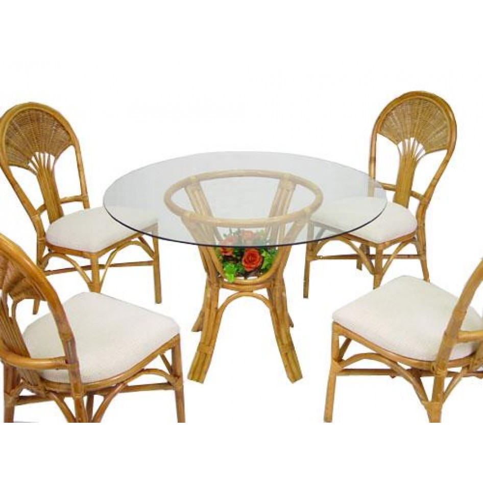 Orlando Rattan Table And Chairs Rental