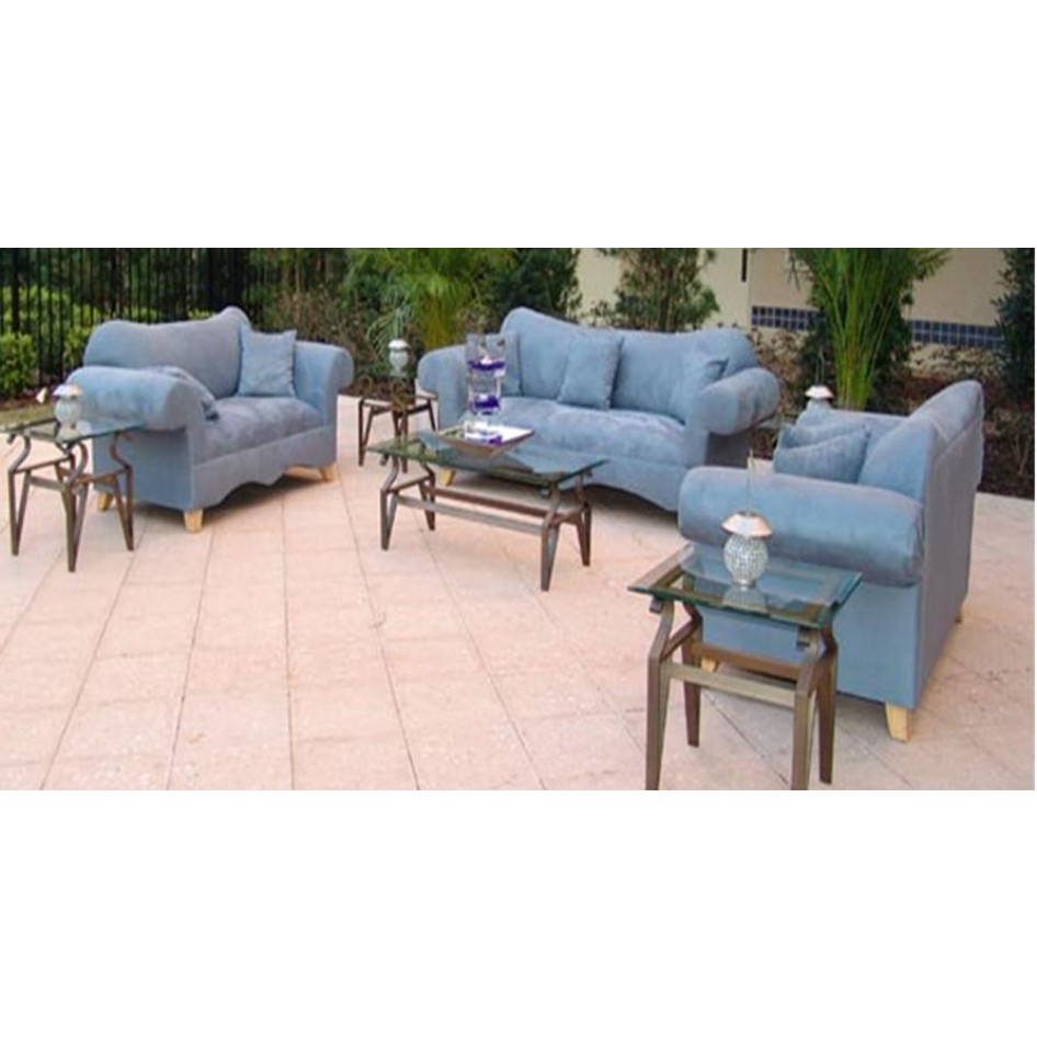 Orlando Blue Microfiber Sofa & Love Seat Rental.