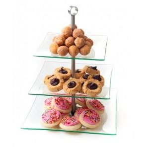 3 Tier Glass Dessert Stand  - CE102 (Qty: 50+)