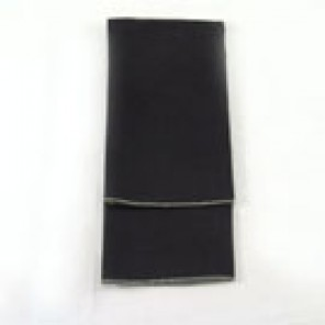 Black Twill with Silver Merrowed Edge - LPL46