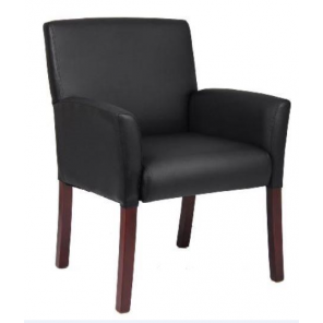 Black Leather Executive Arm Chair- C76 (Qty. 8)