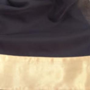 Black Sheer with Gold Satin Border - LSH11