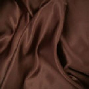 Dark Brown Twill with Brown Satin Back - LCT45