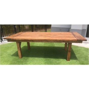 Stained Wooden Farm Table