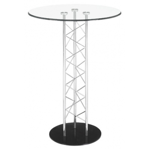 Standing Glass Cocktail Table  - SF20 - (Qty: 12+)