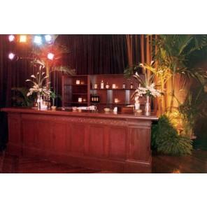 Mahogany Bar with Matching Back Bar  - (Qty: 1+) - SF24