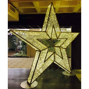 Glittering LED 3-D Star -LD23 (Qty. 2+)