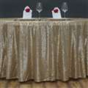 "108"" Champagne Gold Glitz Sequin Tablecloth"