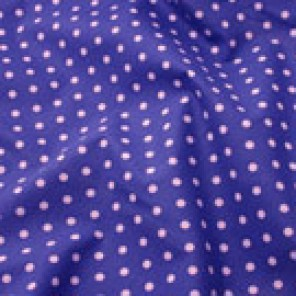 Navy Bluestone Negative Dot Chintz - LPR84