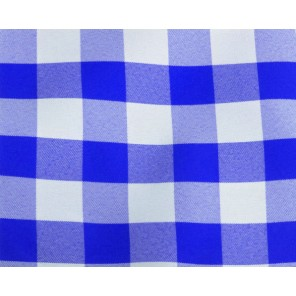 "Royal Blue and White Picnic Check - 90"" Square - LPR100 (Qty: 192+)"