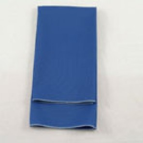 Royal Blue Twill with Silver Merrowed Edge
