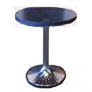 Stainless Steel and Gray Seated Cocktail Table -(Qty: 17+) T17