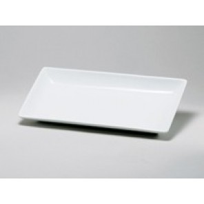 White Porcelain China Rectangular Swivel Plate