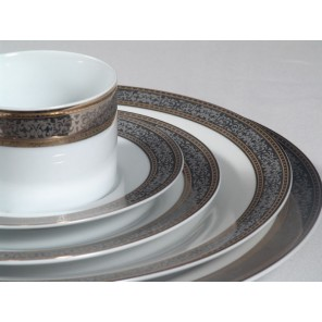 White China w/ Platinum Pattern and Gold Rim - TD10