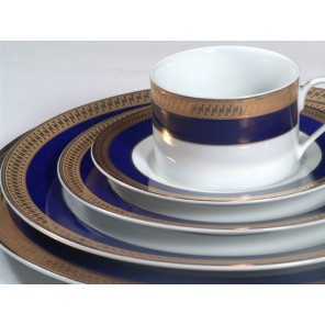 White China w/ Cobalt Blue & Gold Band