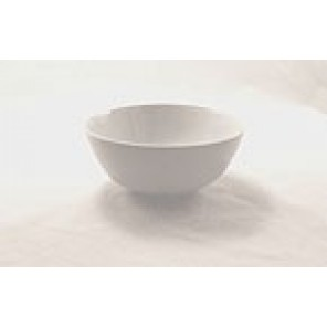 "White Porcelain China 6"" Diameter Bowl"