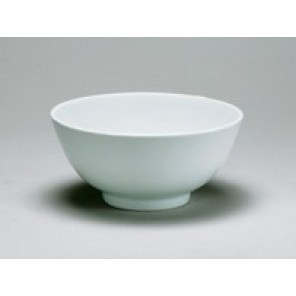 "White Porcelain China 9"" Diameter Bowl"