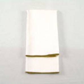 White Twill with Gold Merrowed Edge - LPL50
