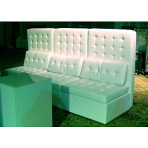 White Leather High Back Tufted Chair - SF39 - (Qty: 6+)