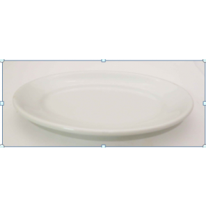 White Porcelain China Oval Plate- CE106 (Qty. 30)