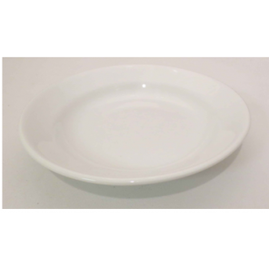 "9"" White Porcelain Soup Bowl"