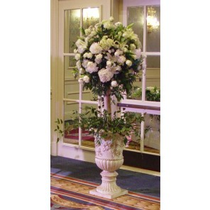 White Rose Floor Topiary - PF108